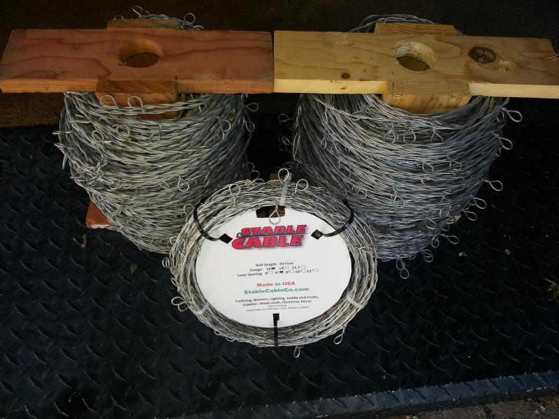 Stable cable rolls